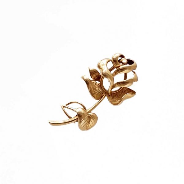1960's · Chaumet · France · Paris · Pink gold · Red gold · Rose · Rose bud · Signed