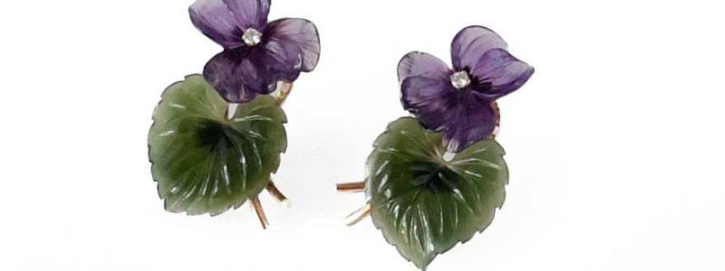 violet amethyst earrings Paltscho