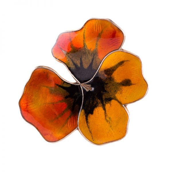 enamelled pansy David-Andersen