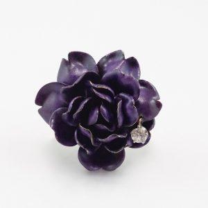 Tiffany antique enamel diamond flower