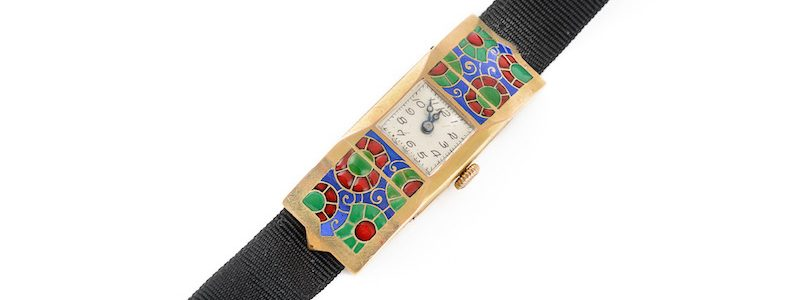 Art deco enamel watch