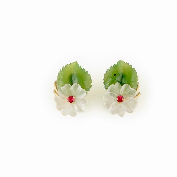 Hibiscus-earclips- earrings