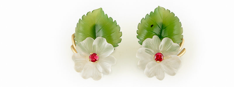 Hibiscus-earclips- earrings
