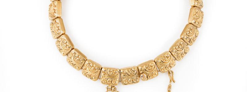Krementz antique bracelet Acanthus