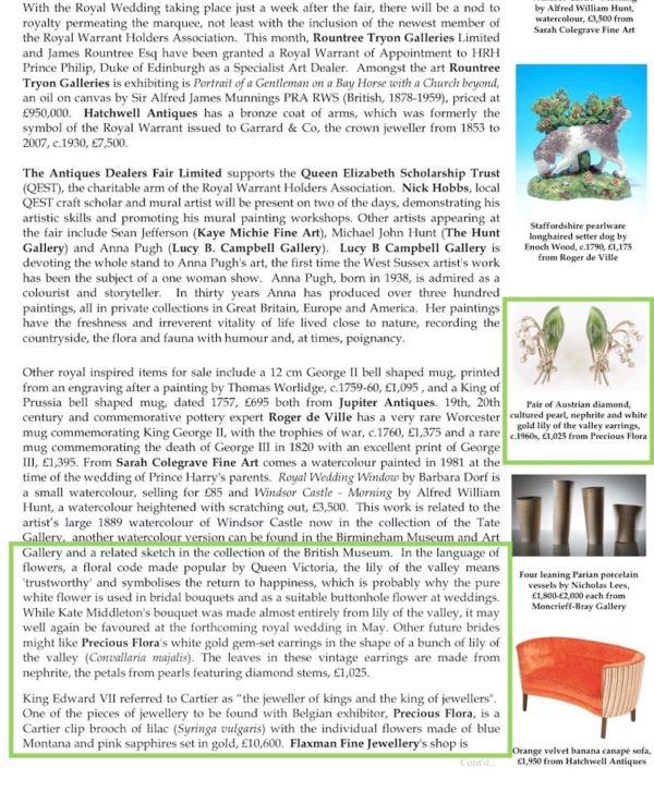 11-13 May:ThePETWORTHPARKAntiques&Fine art Fair
