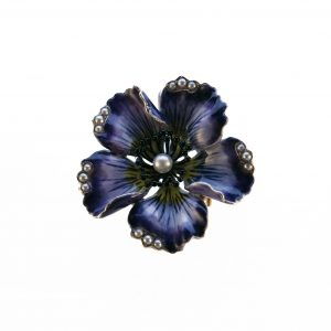 1930's · Blue poppy · Brooch · Enamel · Natural pearls · Pendant · Poppy · Royal Horticultural Society · USA · Watch
