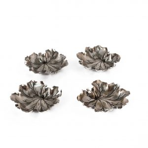 Bowl · Buccellati · Dishes · Geranium · Italian · Leaves · Micro Dish · Pelargonium · Signed · Silver · Sterling · Table Silverware · vide-poche