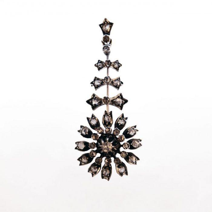 19th century · Bachelor's button · Cornflower · Detachable · Dutch · Language of Flowers · Old mine cut diamond · Pendant · Rosecut diamonds · Victorian