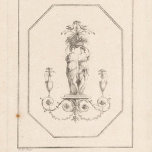 vrouwen met bloemenmand Juste Nathan François Boucher, 1752 - 1782