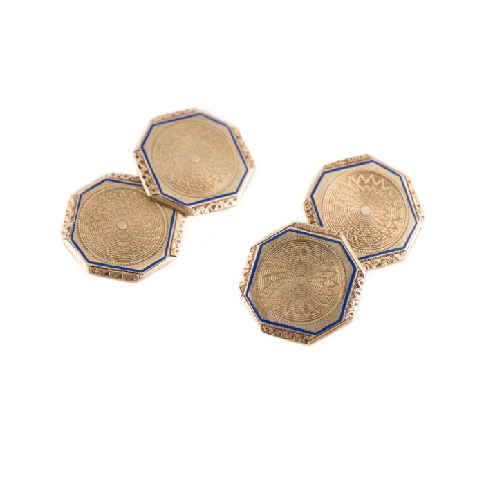 Chrysanthemum cufflinks