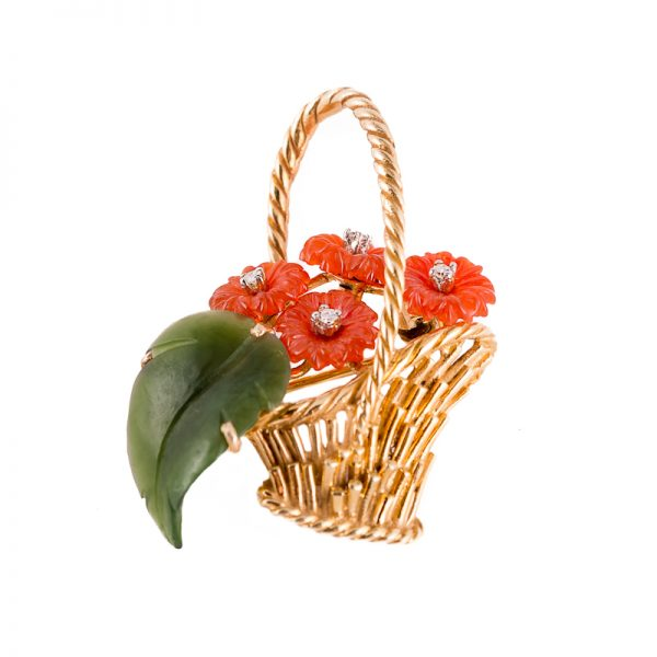 Basket with Chrysanthemums