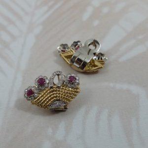 Basket earrings