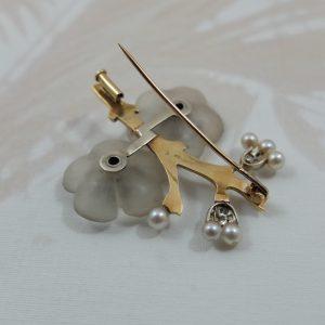 Pear Blossom backside brooch