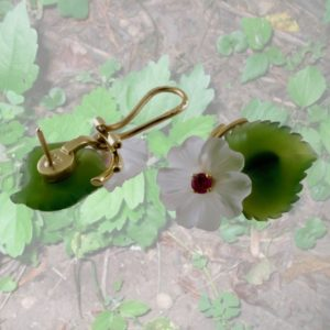 Hibiscus-earclips-earrings